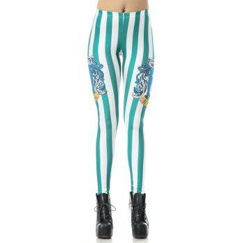 Printed Striped Bodycon Leggings