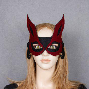 Fox Hollow Out Halloween Party Mask - RED RED