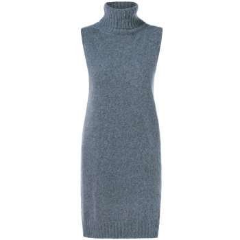 Fuzzy Sleeveless Knit Dress