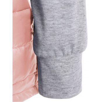 Hooded Padded Jacket - SHALLOW PINK S