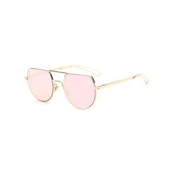 Cool Hollow Out Leg Scrape Off Top Mirror Sunglasses
