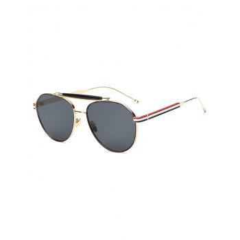 Cool Crossbar Striped Leg Pilot Sunglasses