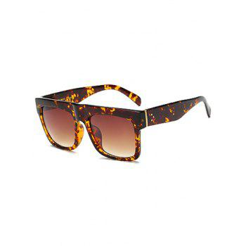 Rectangle Faux Amber Polarized Sunglasses