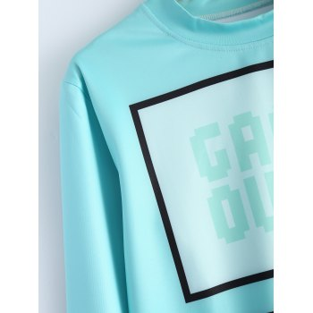 Autumn Game Over Console Keyboard Imprimer Sweatshirt - Bleu Léger M