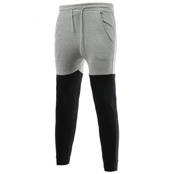 Slim-Fit Color Block Jogger Pants