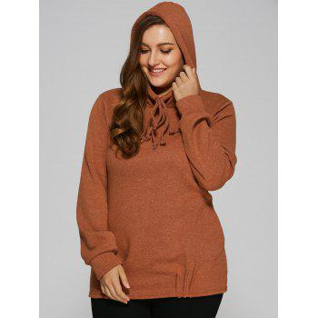Slouchy Pullover Hoodie With Pockets