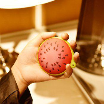 Portable USB Rechargeable Watermelon Power Bank Hand Warmer -  RED