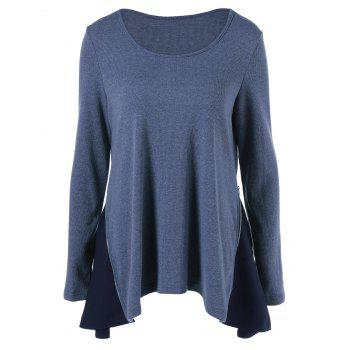 Ribbed Asymmetrical Blouse