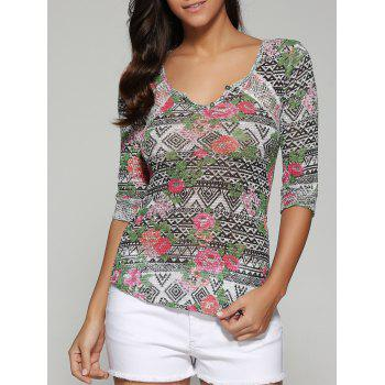 Printed Slimming Blouse