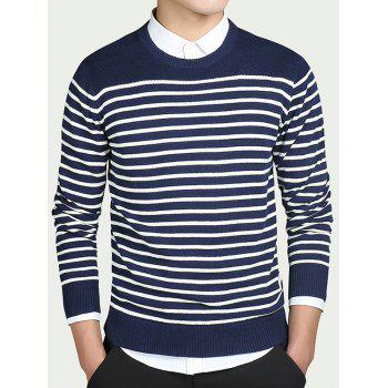 Striped Color Block Long Sleeves Sweater