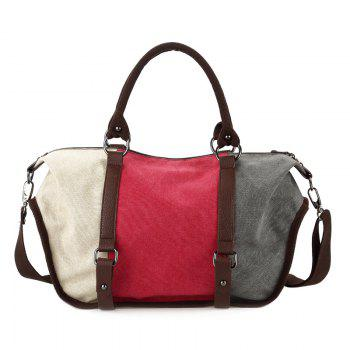 Colour Block Metal Canvas Tote Bag