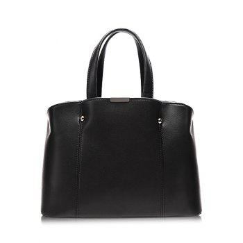 Dome Stud PU Leather Stitching Tote Bag