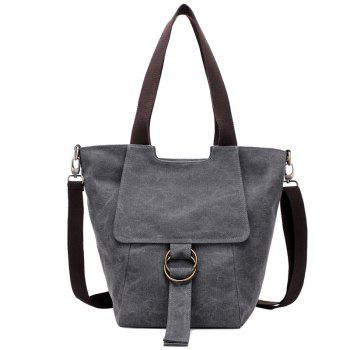 Colour Block Double Metal Ring Shoulder Bag