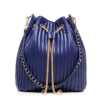 Magnetic Closure Chain Drawstring Shoulder Bag