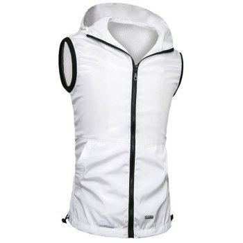 Brief Style Zipper Flying Casual Hooded Vest For Men