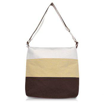 Casual and Sweet Stripe Sacking One-Shoulder Bag For Female