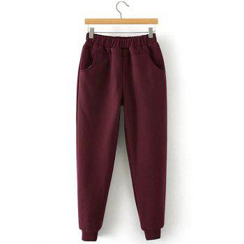 Sporty Fleece Jogger Pants