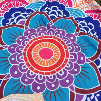 Multicolor Indian Mandala Lotus Shape Beach Throw - SWEET ORANGE ONE SIZE(FIT SIZE XS TO M)