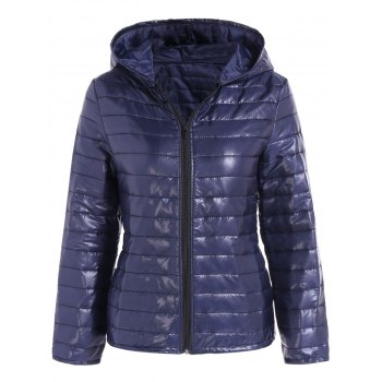 Slim Quilted Winter Jacket with Hood