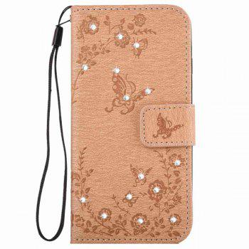 Butterfly Rhinestone Pattern Wallet Phone Case For iPhone 6S Plus
