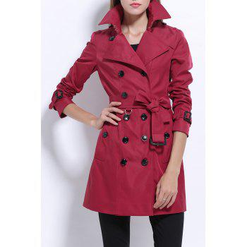 Lapel Cotton Trench Coat