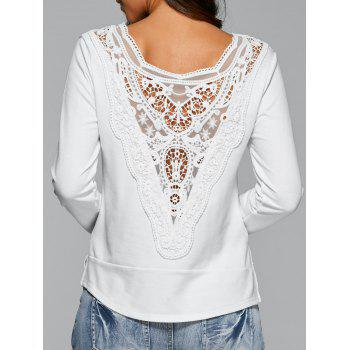 Long Sleeve Lace Back T-Shirt