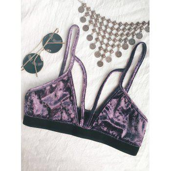 Plunging Neck Strappy Bra Top