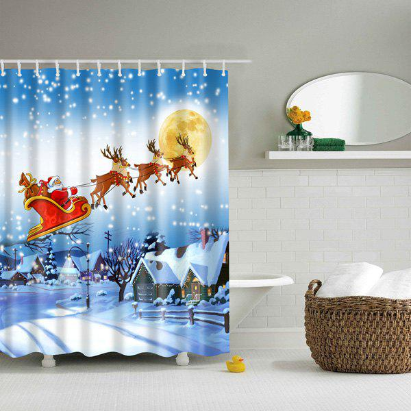 Hot Sale Christmas Santa Bathroom Waterproof Shower Curtain Colorful L In Bathroom Products