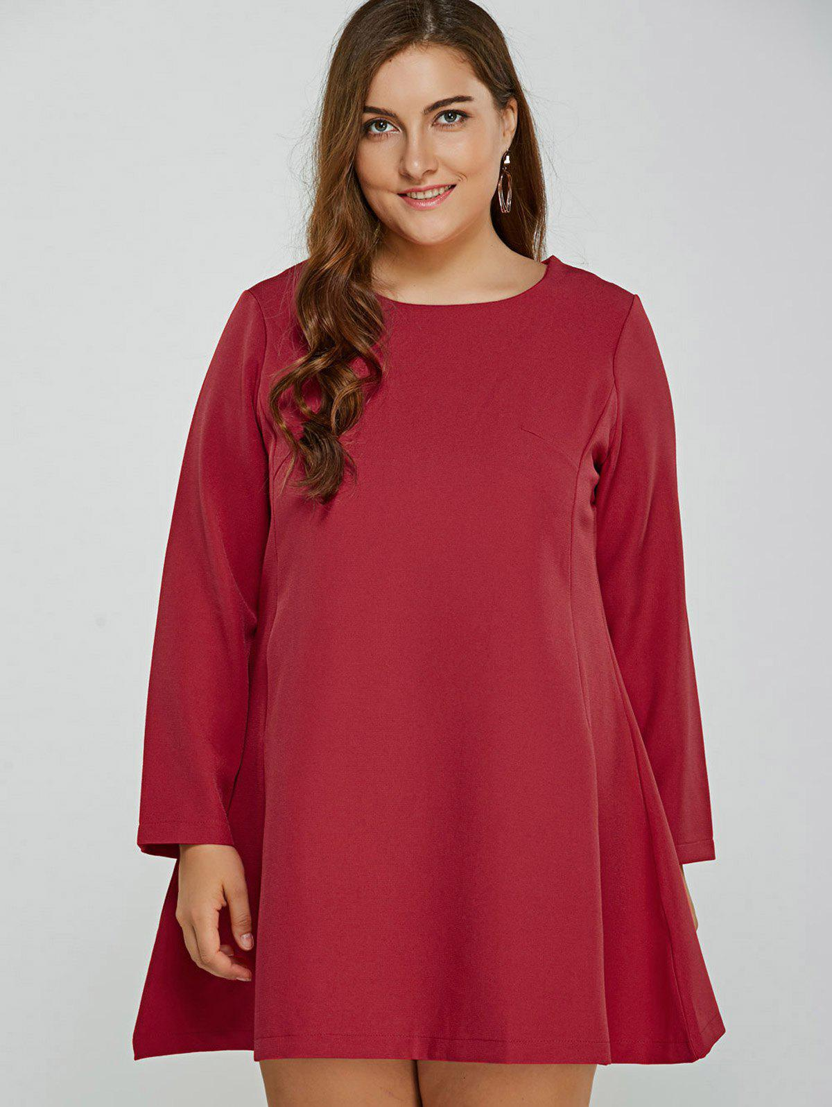 Robe Taille manches longues - Rouge 4XL