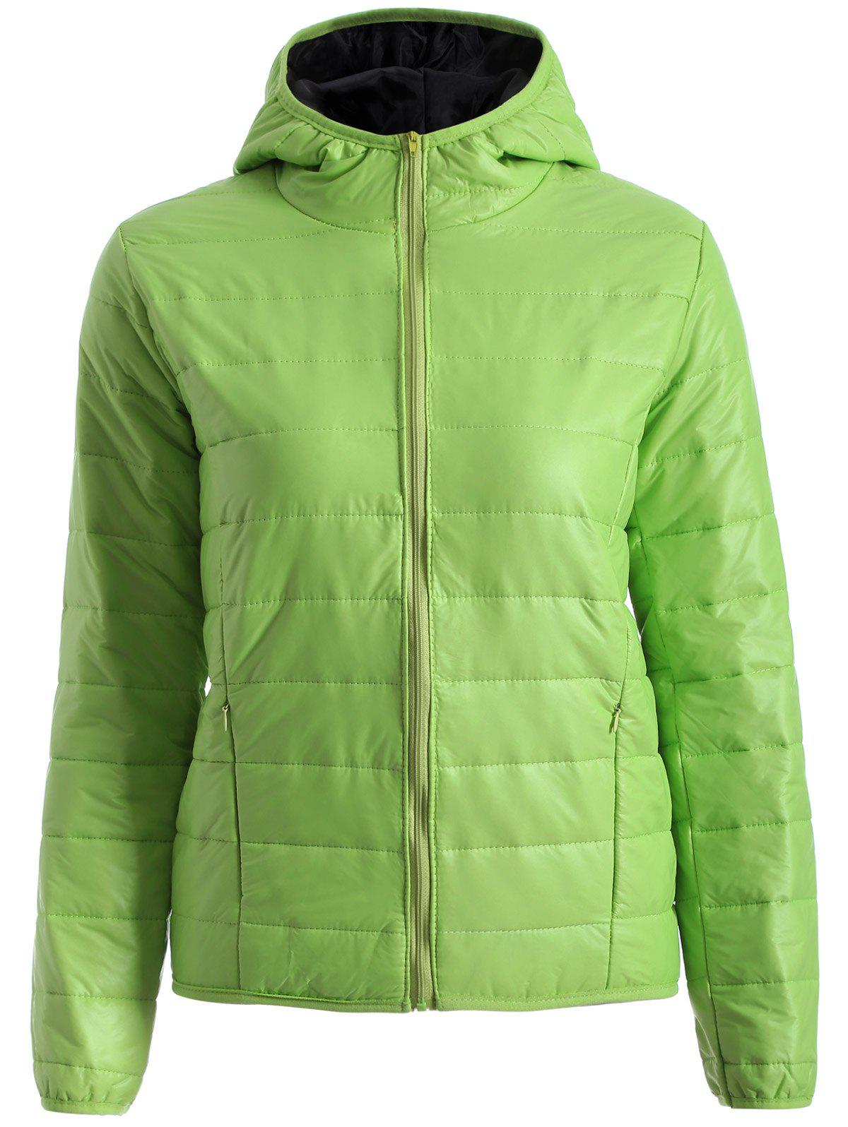Topstitching Hooded Quilted Winter Jacket одеяло для cocoonababy quilted cocoonacover quilted grey 49118