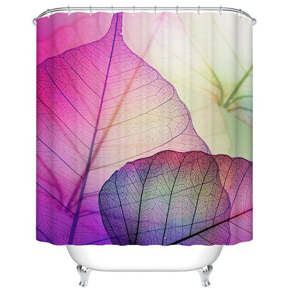 Waterproof Mouldproof Artistic Printed Shower CurtainHome<br><br><br>Size: M<br>Color: LIGHT PURPLE