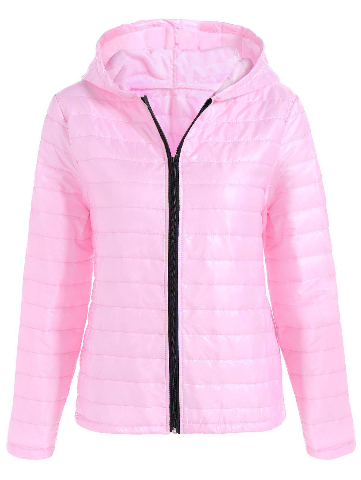 Slim Quilted Winter Jacket with Hood одеяло для cocoonababy quilted cocoonacover quilted grey 49118