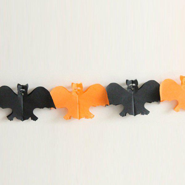 Halloween Party Supplies Paper Ghost Cutting Prop Decoration - BLACK/ORANGE