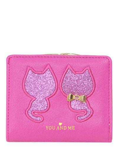 Sequins Bow Animal Pattern Wallet sequins футболка