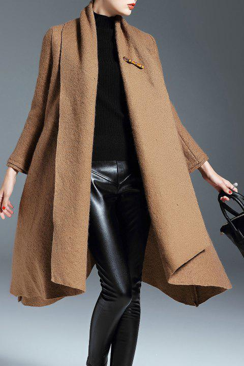 big selection select for clearance recognized brands Shawl Collar Wool Blend Swing Coat