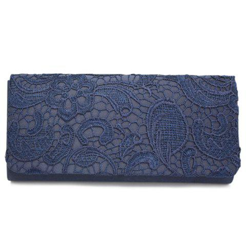 Cover Lace Evening Clutches - CADETBLUE