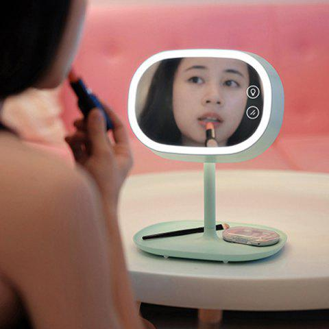 Creative Charging LED Make Up Table Mirror Lamp - MINT GREEN