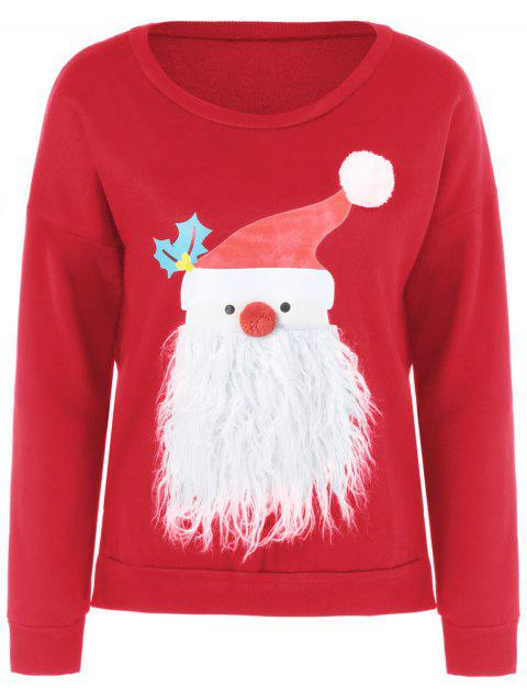 Christmas Fuzzy Sweater - RED M
