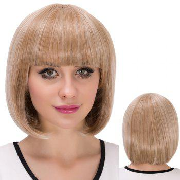 Cute Short Neat Bang Straight Bob Synthetic Wig