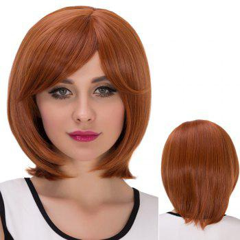Short Pixie Oblique Bang Straight Synthetic Wig