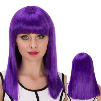 Cosplay Long Full Bang Straight Synthetic Wig