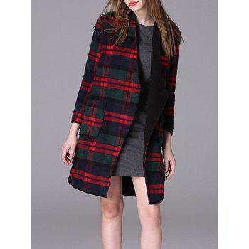 Plaid Loose Woolen Coat