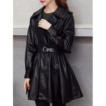 PU Fitting Wrap Coat