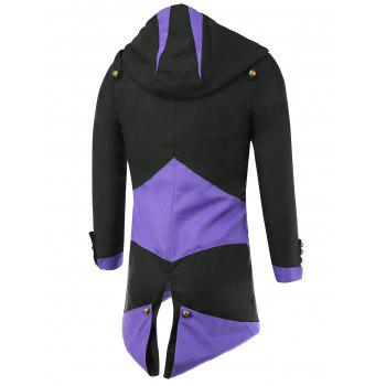 Color Block Splicing Hooded Cosplay Jacket - M M