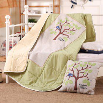 Dual Use Tree Printed Office Sofa Cushion Pillow Nap Quilt