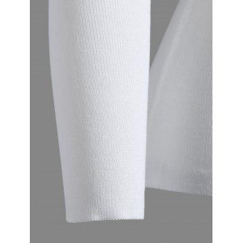 Keyhole manches longues Tricots Tight - Blanc ONE SIZE