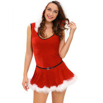 Christmas Hooded Jumpsuit With Skirt