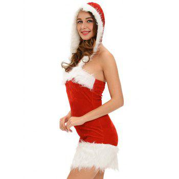 Christmas Cut Out Velvet Dress - ONE SIZE ONE SIZE