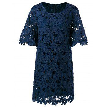 Lace Floral Overlay Dress