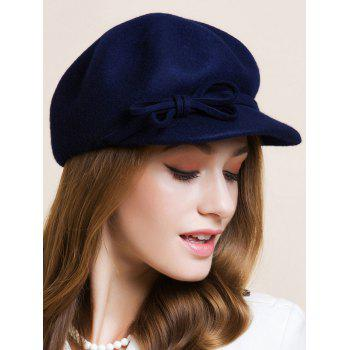 Double Bowknot Lace-Up Embellished Newsboy Hat